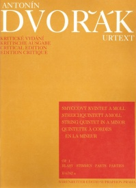Dvorak: String Quintet in A minor Opus 1 published by Barenreiter