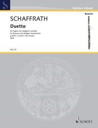 Duetto in G minor for Bassoon by Schaffrath published by Schott
