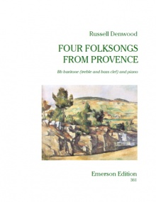 Denwood: Four Folksongs from Provence (treble & bass clef) published by Emerson