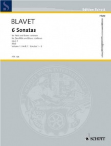 Blavet: Six Sonatas Opus 2 Vol 1 for Flute published by Schott