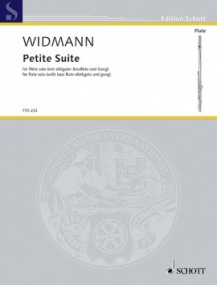 Widmann: Petite Suite for Solo Flute published by Schott