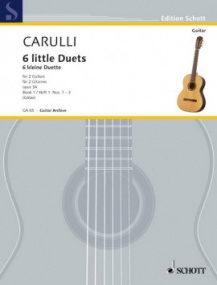 Carulli: 6 little Duets Opus 34/1 for Guitar published by Schott