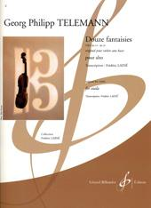 Telemann: Twelve Fantasias for Viola published by Billaudot