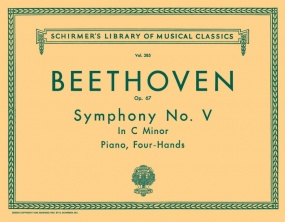 Beethoven: Symphony No 5 in C minor arr for piano duet published by Schirmer