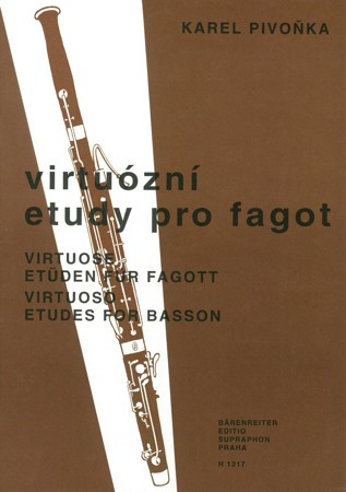 Virtuoso	Studies for Bassoon by Pivonka published by Barenreiter Praha