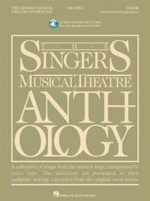 Singers Musical Theatre Anthology 3 Tenor Book & Online Audio published by Hal Leonard