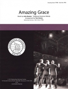 Amazing Grace TTBB published by Barbershop Harmony Society