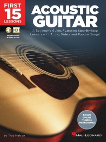 First 15 Lessons: Acoustic Guitar published by Hal Leonard