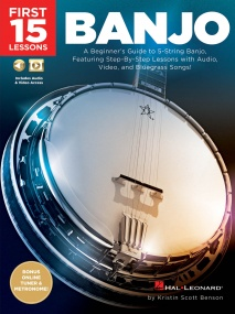 First 15 Lessons: Banjo published by Hal Leonard (Book/Online Audio)
