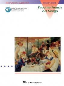 Favorite French Art Songs for High Voice published by Hal Leonard (Book/Online Audio)