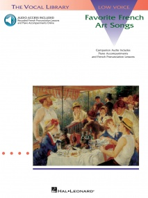 Favorite French Art Songs - Low Voice published by Hal Leonard (Book/Online Audio)