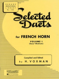 Selected Duets Volume 1 (Voxman) for French Horn published by Rubank