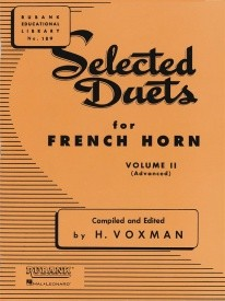 Selected Duets Volume 2 (Voxman) for French Horn published by Rubank