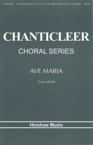 Biebl: Ave Maria SATB published by Hinshaw