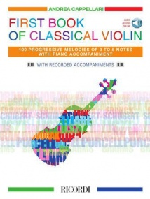 First Book of Classical Violin published by Ricordi (Book/Online Audio)