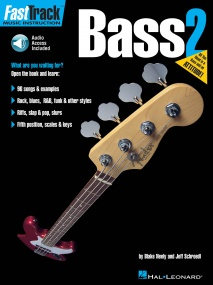 Fast Track Bass: 2 published by Hal Leonard (Book/Online Audio)