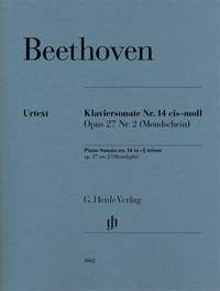 Beethoven: Sonata in C# Minor Opus 27 No 2 (Moonlight) for Piano published by Henle