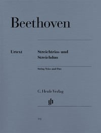 Beethoven: String Trios and String Duo Opus 3, 8 & 9 published by Henle