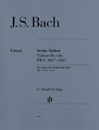 6 Solo Suites by Bach for Cello published by Henle
