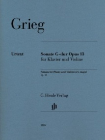 Grieg: Sonata in G Opus 13 for Violin published by Henle