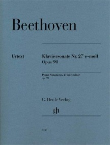 Beethoven: Sonata in E Minor Opus 90 for Piano published by Henle