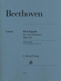 Beethoven: Three Equali for four Trombones published by Henle