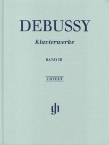 Debussy: Piano Works 3 published by Henle (Cloth Bound)