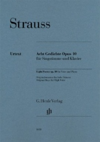 Strauss: 8 Gedichte Opus 10 for High Voice published by Henle
