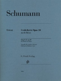 Schumann: Song Cycle Opus 24 for Medium Voice published by Henle