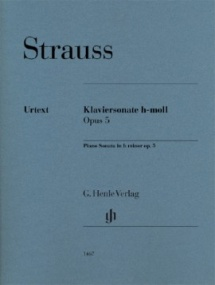 Strauss: Sonata in B minor for Piano published by Henle