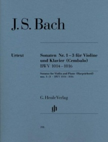 Bach: Sonatas 1 - 3 (BWV1014-1016) for Violin published by Henle