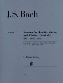 Bach: Sonatas 4 - 6 (BWV1017-1019) for Violin published by Henle