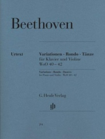 Beethoven: Variations, Rondo, Dances for Violin published by Henle Urtext