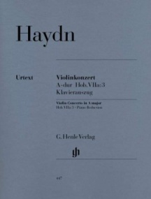 Haydn: Concerto in A Hob VIIa:3 for Violin published by Henle