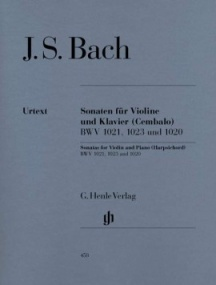 Bach: Three Sonatas (BWV1020, 1021,1023) for Violin published by Henle