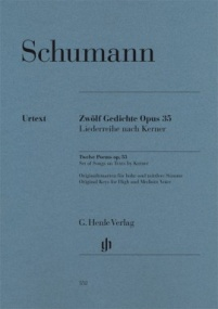 Schumann: Twelve Poems Opus 35 published by Henle
