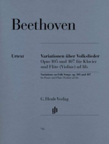 Beethoven: Variations on Folk Songs for Piano and Flute (Violin) published by Henle