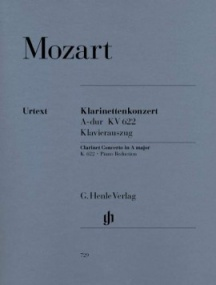 Mozart: Concerto in A KV622 for Clarinet in A published by Henle