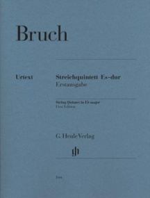 Bruch: String Quintets in Eb Major published by Henle