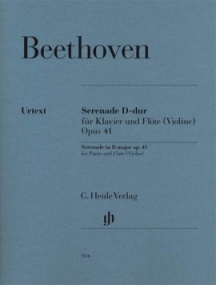 Beethoven: Serenade Opus 41 for Piano and Flute (Violin) published by Henle