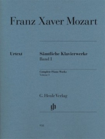 Mozart, Franz Xaver: Complete Piano Works Volume I published by Henle