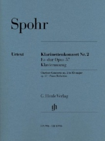 Spohr: Concerto No 2 in Eb major Opus 57 for Clarinet published by Henle