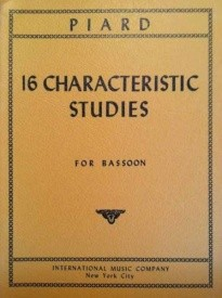 16 Characteristic Studies for Bassoon by Piard published by IMC