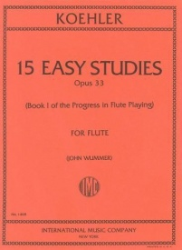 Kohler: Progress in Flute Playing Opus 33 Book 1 published by IMC