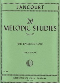 26 Melodic Studies Opus 15 by Jancourt published by IMC