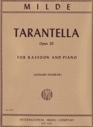 Tarantelle Opus 20 by Milde for Bassoon published by IMC