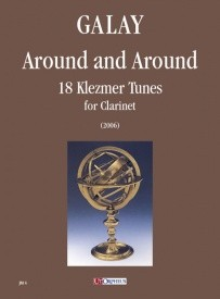 Around and Around. 18 Klezmer Tunes for Clarinet by Galay published by UT Orpheus