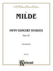 50 Concert Studies Opus 26 for Bassoon by Milde published by Kalmus