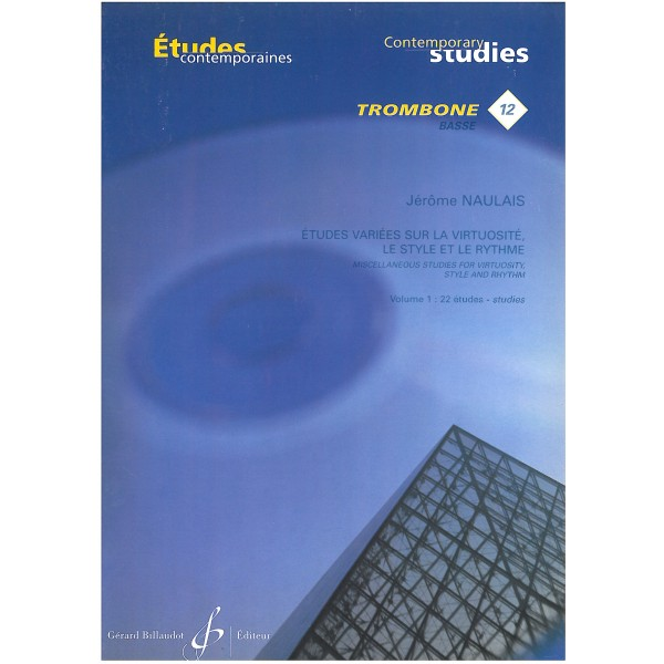 Naulais: 22 Etudes Variees Vol 1 for Bass Trombone published by Billaudot