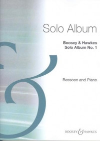 Solo Album No1 for Bassoon & Piano published by Boosey & Hawkes